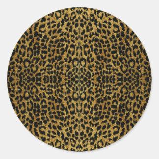 RAB Rockabilly Leopard Print Gifts Classic Round Sticker