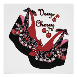 RAB Rockabilly Very Cherry Shoes Poster