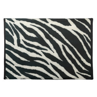 RAB Rockabilly Zebra Print Black & White Placemat