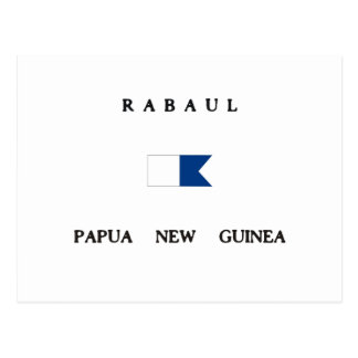 Rabaul Papua New Guinea Alpha Dive Flag Postcard