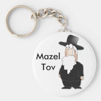 Rabbin juif drôle - bande dessinée fraîche porte-clé rond
