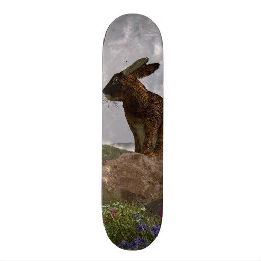 Rabbit After a Spring Storm Custom Skate Board