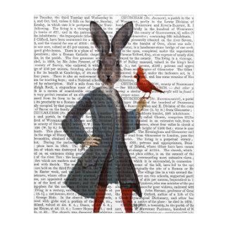 Rabbit and Bird Acrylic Wall Art