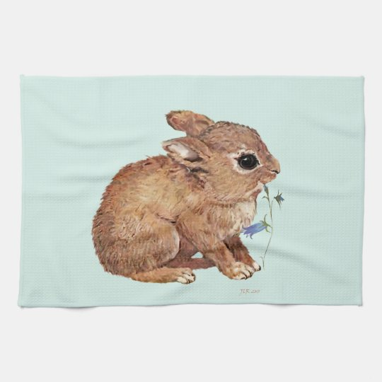 Rabbit and Bluebell Hand Towel