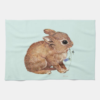 Rabbit and Bluebell Kitchen Towel