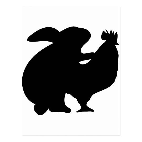 Rabbit and Chicken Postcard