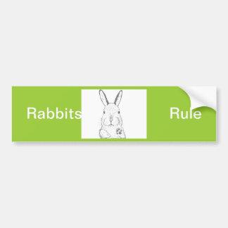 Rabbit and other designs car bumper sticker