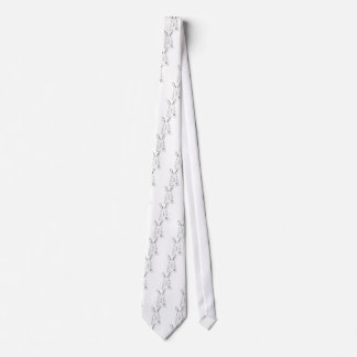 Rabbit and other designs tie