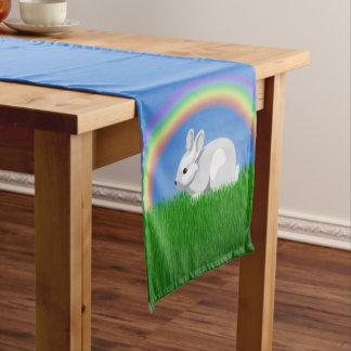 Rabbit and Rainbow Short Table Runner
