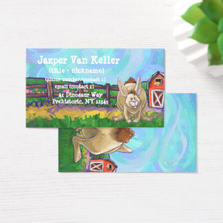 Rabbit Animal Parade writing stuff Business Card
