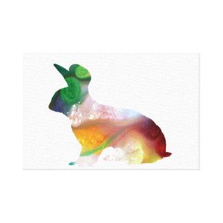 Rabbit art canvas print