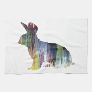 Rabbit art kitchen towel