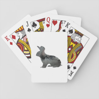 Rabbit art playing cards