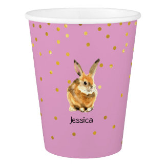 Rabbit Birthday Party Paper Cup