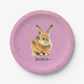Rabbit Birthday Party Paper Plate