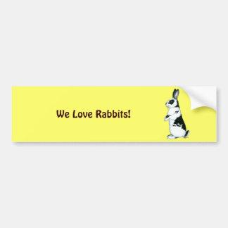Rabbit:  Black and White Bumper Sticker