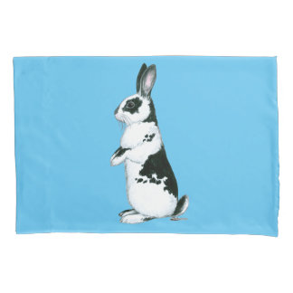Rabbit:  Black and White Pillowcase