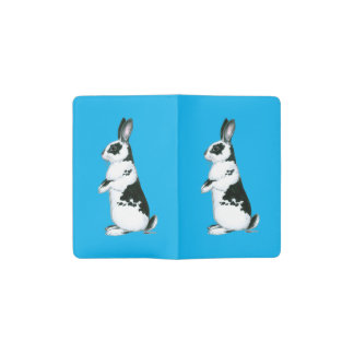 Rabbit:  Black and White Pocket Moleskine Notebook