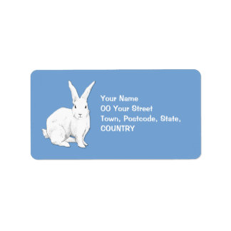 Rabbit blue Address Label