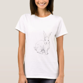 Rabbit blue Ladies T-shirt