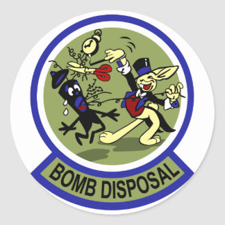 Rabbit Bomb Disposal Classic Round Sticker