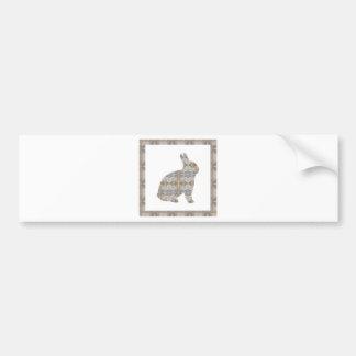 RABBIT Bunny CRYSTAL Jewel NVN454 KIDS LARGE  fun Bumper Sticker