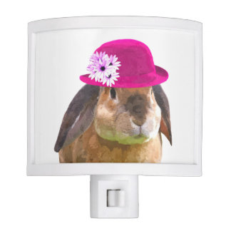 Rabbit bunny cute funny animal nursery kids room nite lite