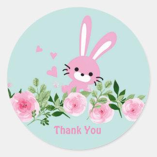 Rabbit, bunny Glossy Classic Round Sticker