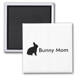 Rabbit Bunny Mom Black Personalize Magnet