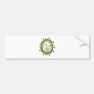 Rabbit , bunny, WOODLAND-CRITTERS Bumper Sticker