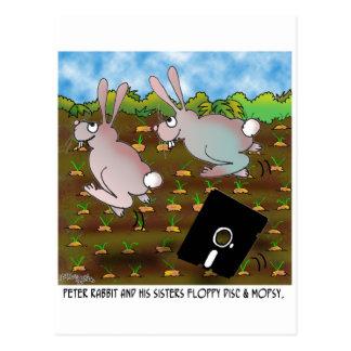 Rabbit Cartoon 8724 Postcard