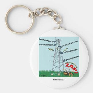 Rabbit Cartoon 9191 Basic Round Button Keychain