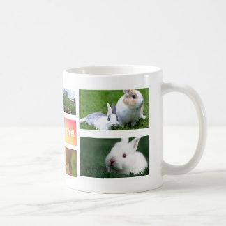 Rabbit Collage Photo Mug