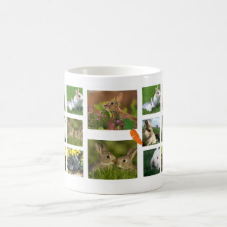 Rabbit Collage Photo Mug (Round)