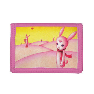 Rabbit country trifold wallets