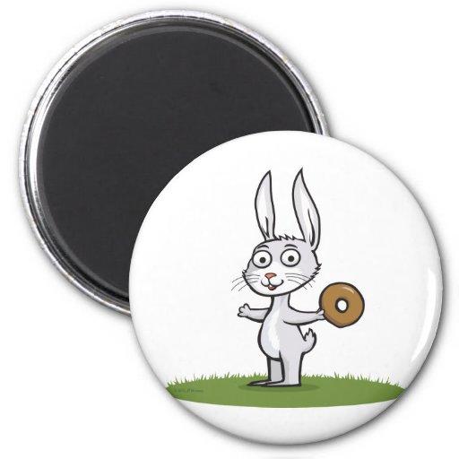 Rabbit Donuts Refrigerator Magnets