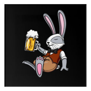 Bunny Party Art Wall Décor Zazzleca