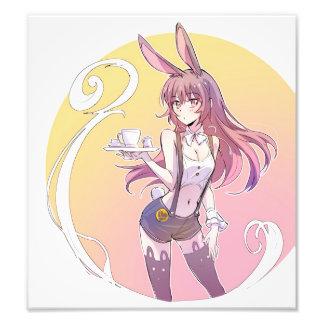 Rabbit Ears Waifu Photo Print