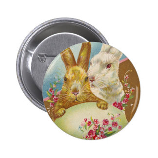 Rabbit Easter Greetings Vintage 2 Inch Round Button