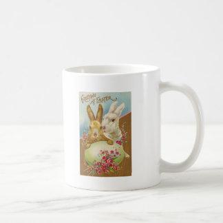 Rabbit Easter Greetings Vintage Coffee Mug