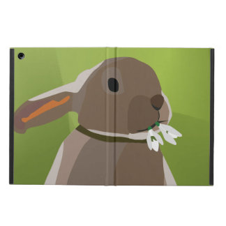 Rabbit eating snowdrops iPad air cover