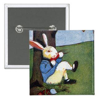 Rabbit Eating Veggies Under Tree Pinback Button