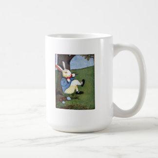 Rabbit Eating Veggies Under Tree Coffee Mug