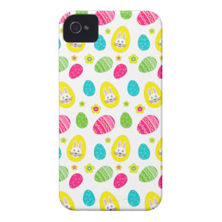 Rabbit & Eggs Easter bright pattern iPhone 4 Case-Mate Case