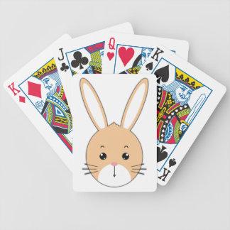 Rabbit face poker deck