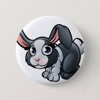 Rabbit Farm Animals Cartoon Character 2 Inch Round Button