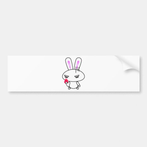 Rabbit get angry bumper stickers