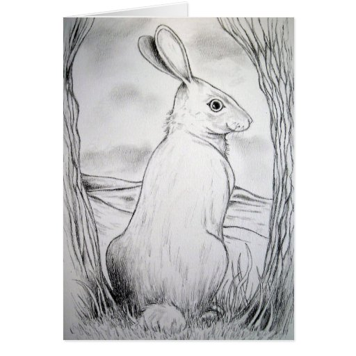 Rabbit Greeting Card Easter