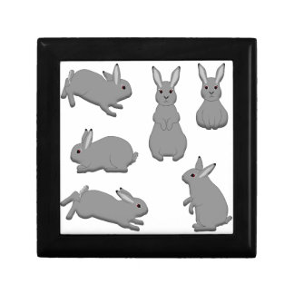 Rabbit grey gift box