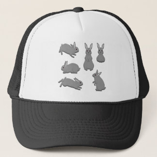 Rabbit grey trucker hat